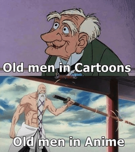 cartoon memes old men anime vs cartoons