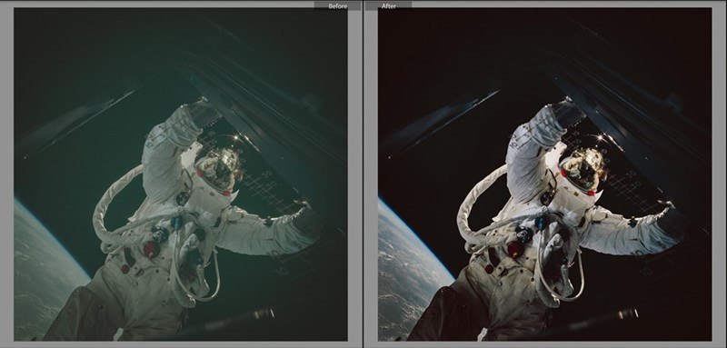 Redditor color corrects photos from NASA's Apollo missions.