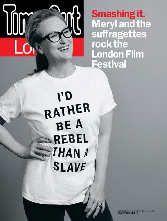 Meryl Streep's shirt had a wildly different meaning across the pond.