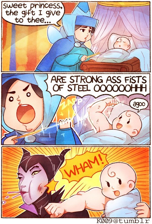 cartoon memes disney sleeping beauty fists of steel