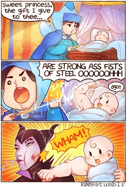 cartoon memes disney sleeping beauty fists of steel