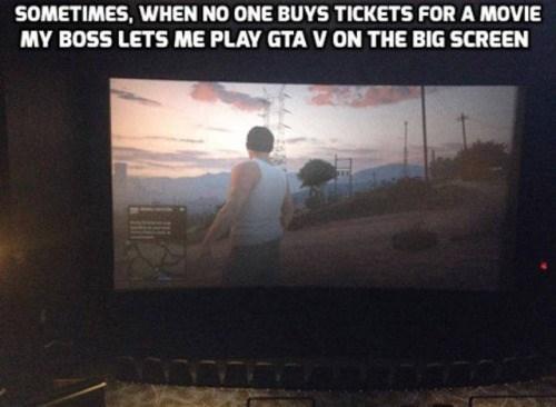 video game memes gta on the big screen