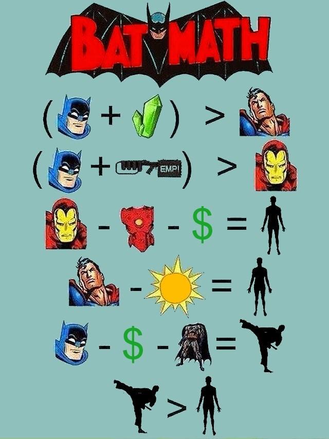 matematicas y batman