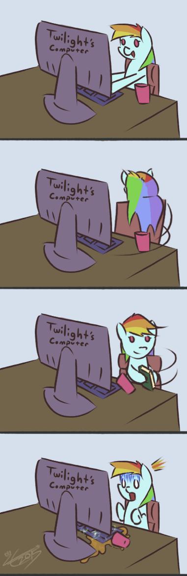 twilight sparkle spill rainbow dash - 8572645632