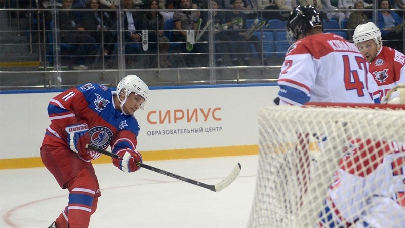 Vladimir Putin played hockey and scored 7 goals on his birthday.