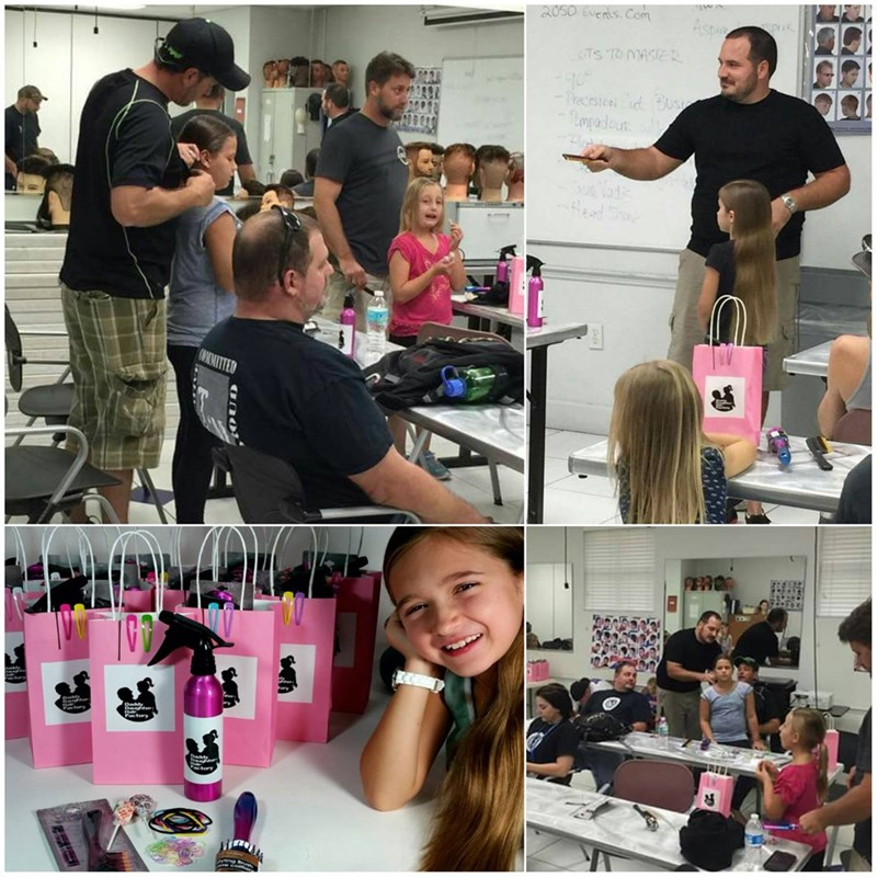 Dad created a class to teach fathers how to fix their daughters' hair