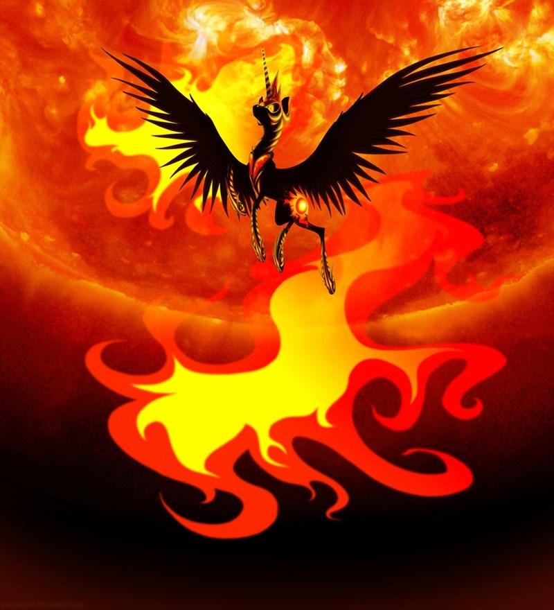 alternate universe princess celestia nightmare sun - 8573007616