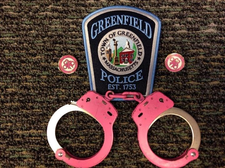 Pink handcuffs to support breast cancer awareness will be used in a Massachusetts police department.