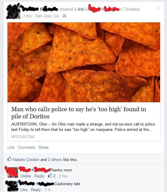 high,doritos,facebook,parents