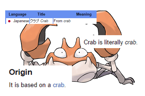 pokemon memes crabby based on crab