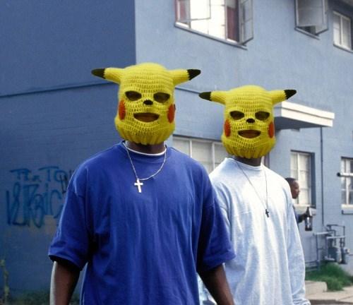pokemon memes pikachu mask