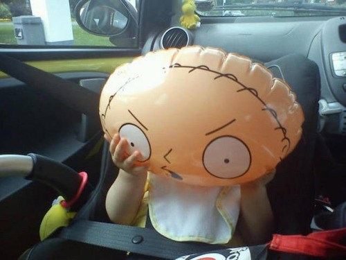cartoon memes stewie balloon family guy