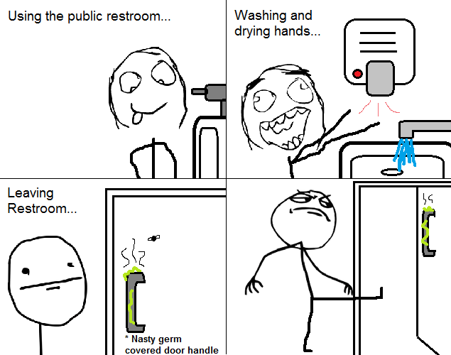 germs,public bathroom