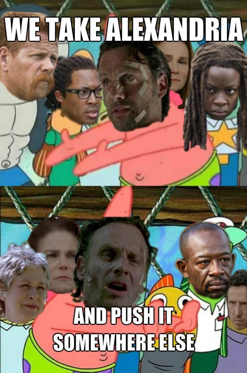 patrick star SpongeBob SquarePants The Walking Dead - 8574552320