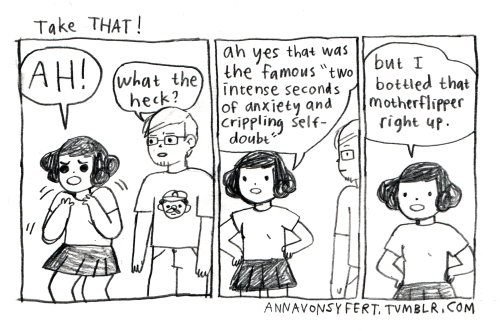 anxiety webcomics Just Take a Deep Breath and Push Those Feelings Waaayyyy Down