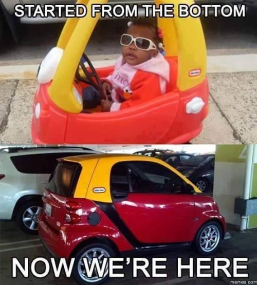 funny memes now were here smart car