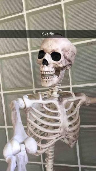 halloween memes skeleton selfies