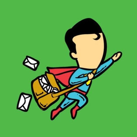 superman job Super Man Becomes.... Mail Man!