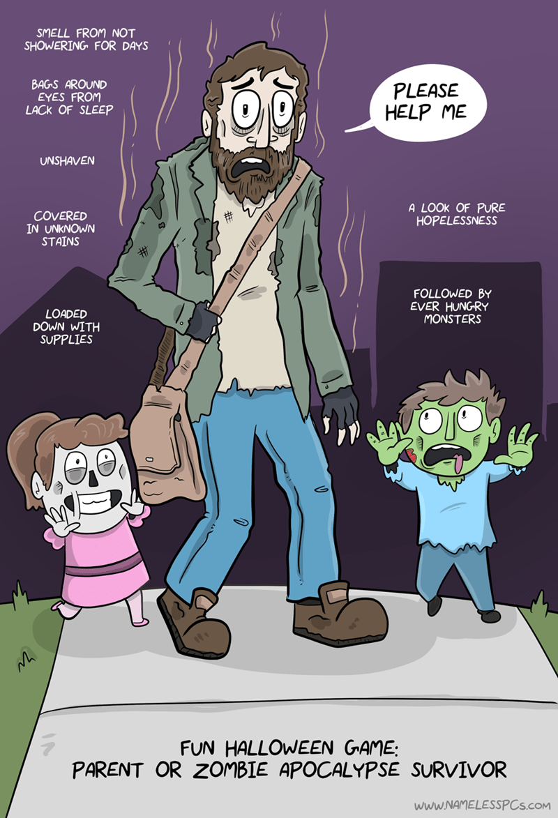 zombie apocalypse kids web comics It's Hard to Tell Either Way