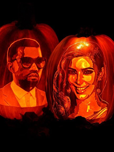 pumpkins Kim Kardashian and Kanye West