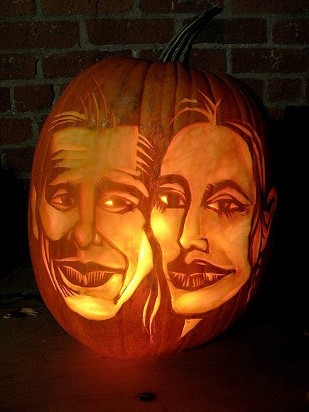 pumpkins Angelina Jolie and Brad Pitt