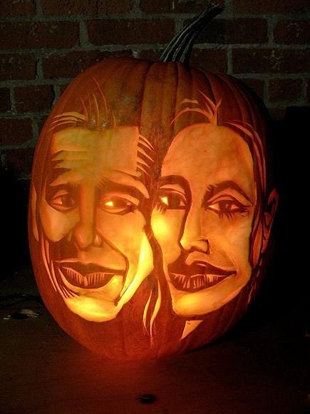 pumpkins Angelina Jolie and Brad Pitt