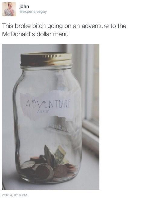 funny memes adventure to the dollar menu