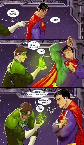 superman green lantern web comics It's Not Funny Guys