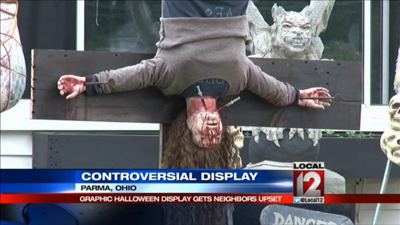 Spoopy of the Day: Gruesome Halloween Yard Decorations Cause Concern in Ohio Town