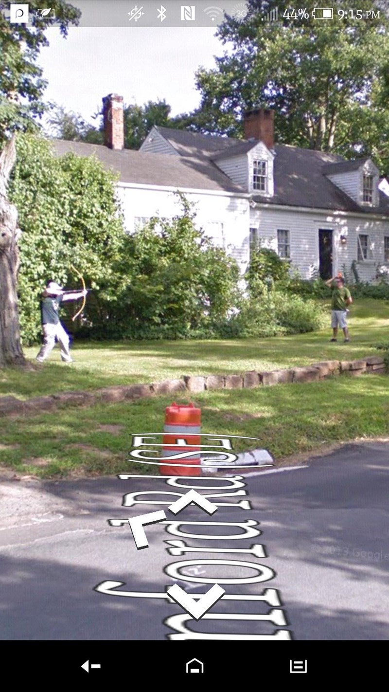trolling meme bow and arrow street view