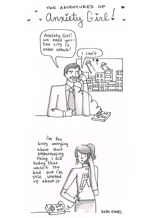 web comics anxiety Maybe Later When I'm Done Replaying This Conversation Over and Over in my Head