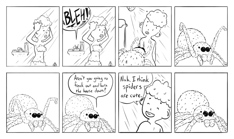 spiders web comics Can't You Just Pretend?