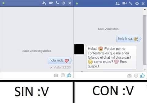 con :v