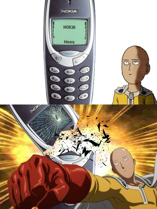 nokia,anime,one punch man