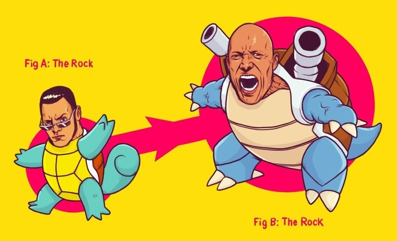 pokemon memes the rock blastoise