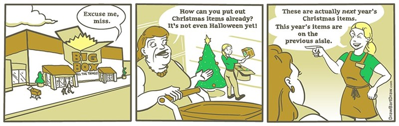 christmas halloween web comics It's Not Too Early if You Just Never Took Them Down