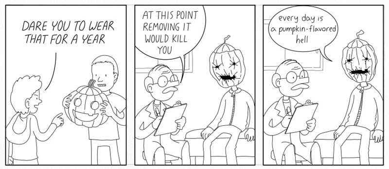 web comics halloween There's a Reason Pumpkin Spice is Seasonal