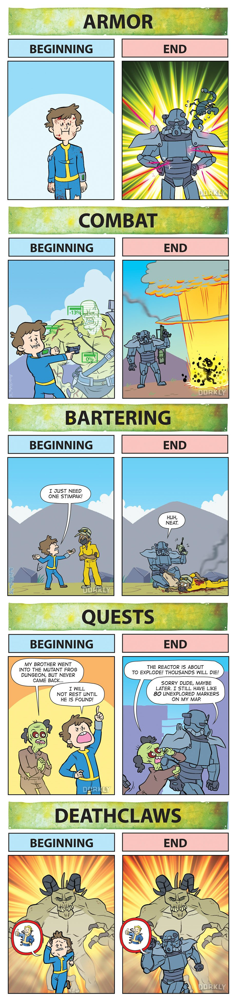 video game memes fallout beginning vs end