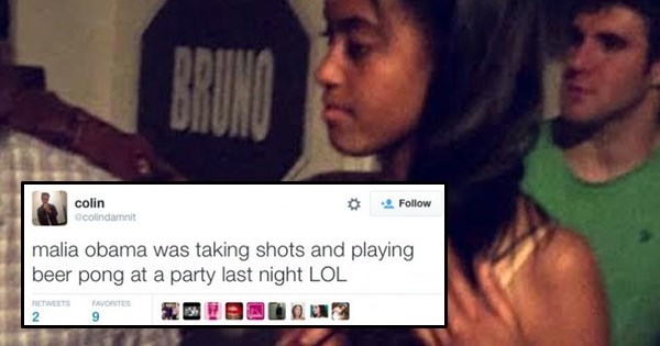 Snapchat of the Day: Malia Obama Spotted Playing Beer Pong at Brown University