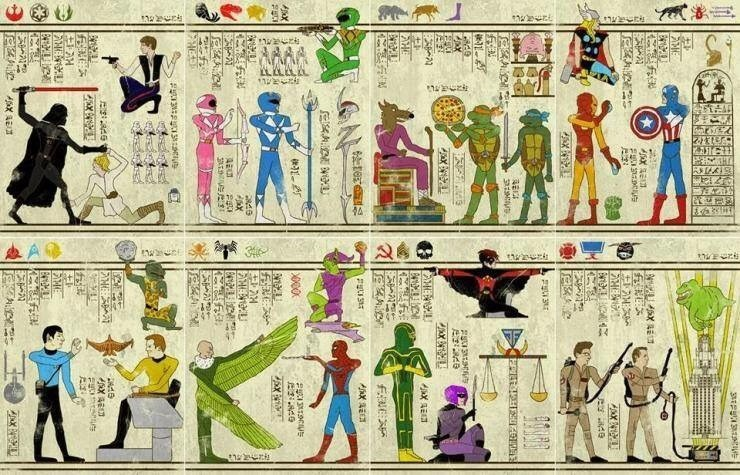 Ancient Super Herogylphs