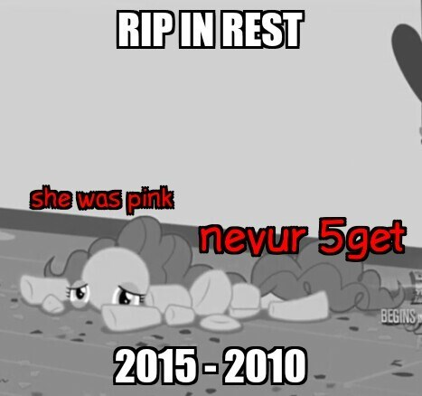 pinkie pie,season 5,rip