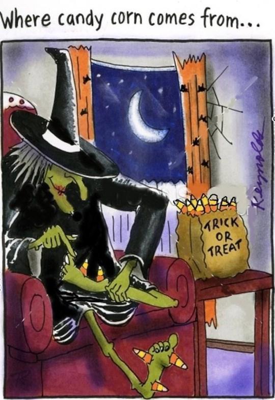 halloween memes candy corn witch feet