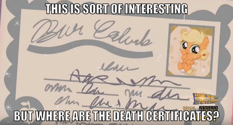 My Little Brony Birth Certificate My Little Pony Friendship Is