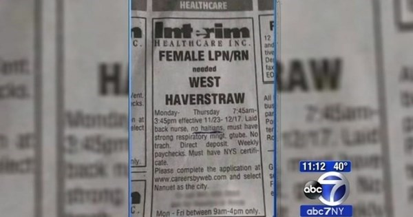 Fail of The Day: Newspaper Ad Looking For Nurse Includes 'No Haitians'
