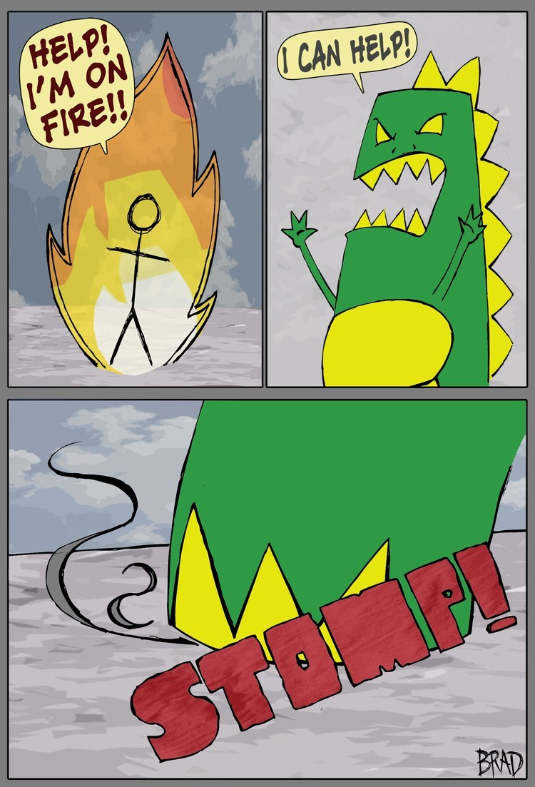 fire monster web comics Well, the Fire's Out