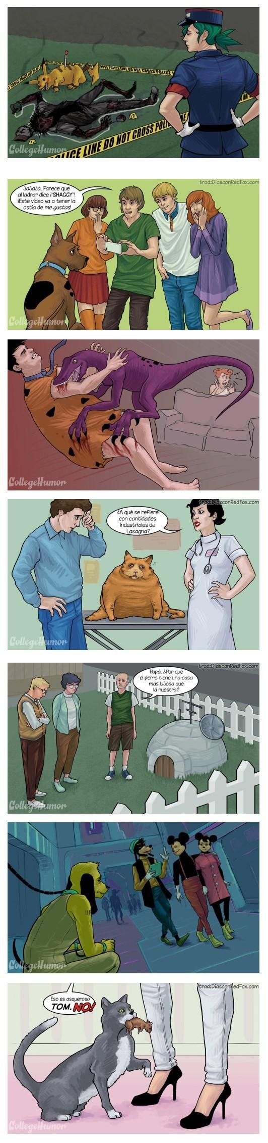 Dibujos animados en la vida real