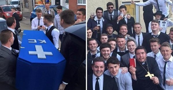 Prank of The Day: Bros Hold Fake Funeral For Bud Who Spends Too Much Time With His Girlfriend