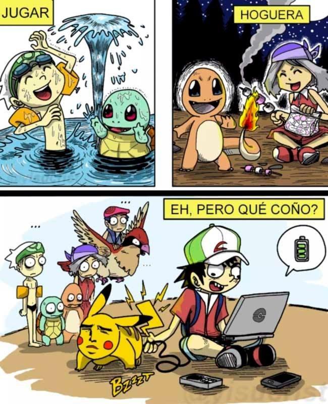 jugar con pokemons