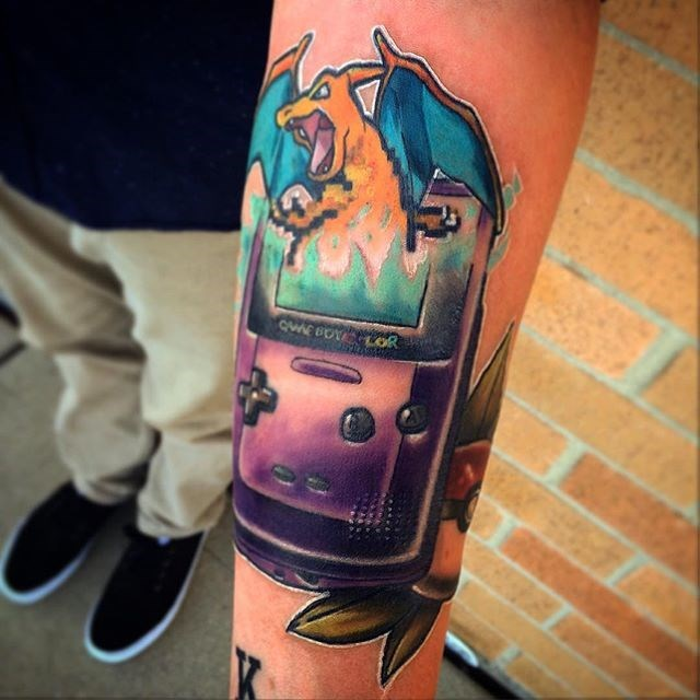 pokemon memes charizard game boy color tattoo