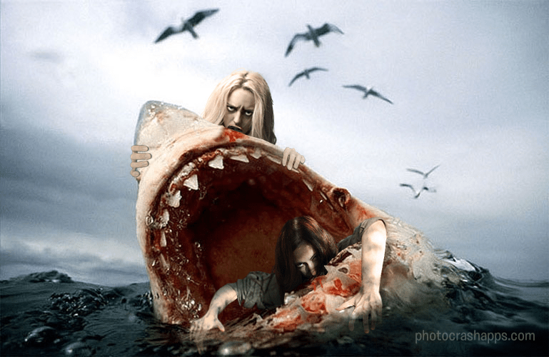 Women Eating Man-Eating Shark